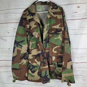 US Army Military Woodland Camouflage Combat Jacket
